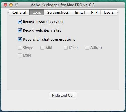Aobo Keylogger for Mac - Chats