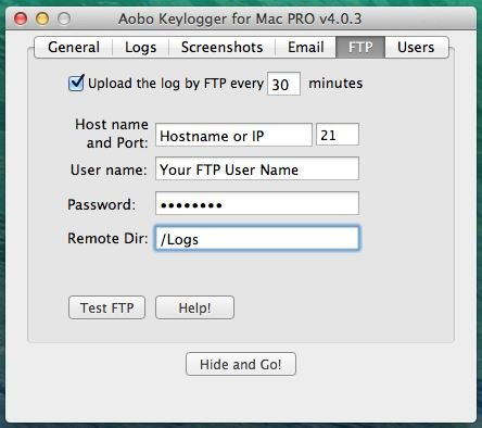 Upload logs to FTP