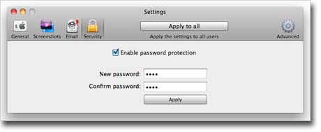 Amac Keylogger for Mac – security settings